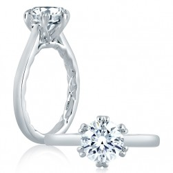 A.JAFFE Platinum Classic Engagement Ring ME2129Q