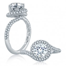 A.JAFFE Platinum Classic Engagement Ring ME2140Q