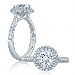 A.JAFFE Platinum Classic Engagement Ring ME2163Q