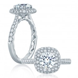 A.JAFFE Platinum Classic Engagement Ring ME2164Q