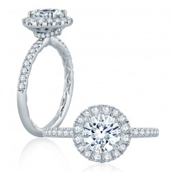 A.JAFFE Platinum Classic Engagement Ring ME2167Q