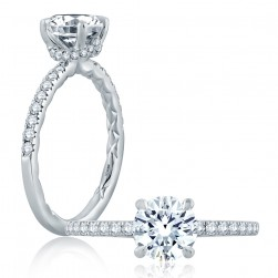 A.JAFFE Platinum Classic Engagement Ring ME2170Q