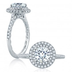 A.JAFFE Platinum Classic Engagement Ring ME2172Q