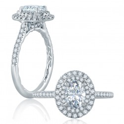 A.JAFFE Platinum Classic Engagement Ring ME2173Q