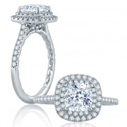 A.JAFFE Platinum Classic Engagement Ring ME2174Q