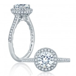 A.JAFFE Platinum Classic Engagement Ring ME2176Q