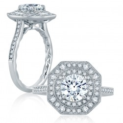 A.JAFFE Platinum Classic Engagement Ring ME2183Q