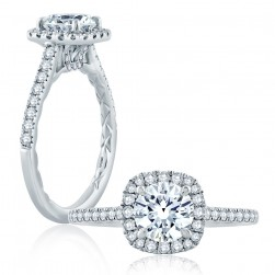 A.JAFFE Platinum Classic Engagement Ring ME2186Q