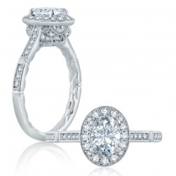 A.JAFFE Platinum Classic Engagement Ring ME2188Q