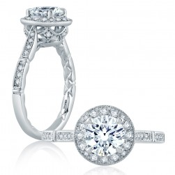 A.JAFFE Platinum Classic Engagement Ring ME2189Q
