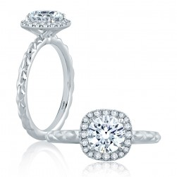 A.JAFFE Platinum Classic Engagement Ring ME2192Q