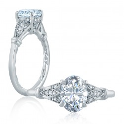 A.JAFFE Platinum Classic Engagement Ring ME2199Q