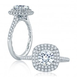 A.JAFFE Platinum Classic Engagement Ring ME2203Q