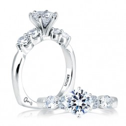 A Jaffe Platinum Signature Engagement Ring MES015