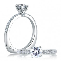 A Jaffe Platinum Signature Engagement Ring MES309