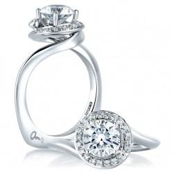 A Jaffe Platinum Signature Engagement Ring MES374