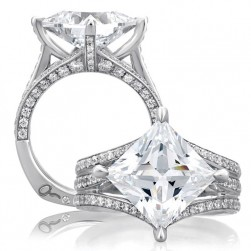 A Jaffe Platinum Signature Engagement Ring MES404
