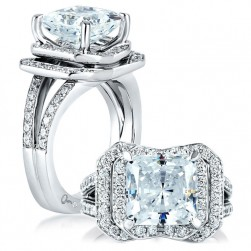 A Jaffe Platinum Signature Engagement Ring MES407