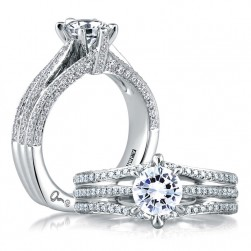 A Jaffe Platinum Signature Engagement Ring MES414
