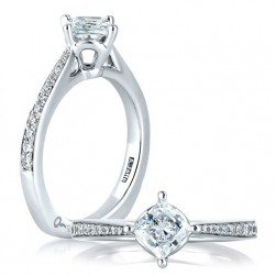 A Jaffe Platinum Signature Engagement Ring MES430