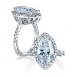 A Jaffe Platinum Signature Engagement Ring MES440