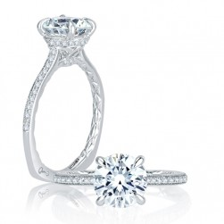A.JAFFE Platinum Signature Engagement Ring MES771Q