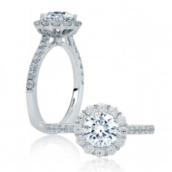 A.JAFFE Platinum Signature Engagement Ring MES822