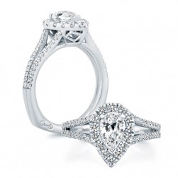 A.JAFFE Platinum Signature Engagement Ring MES824
