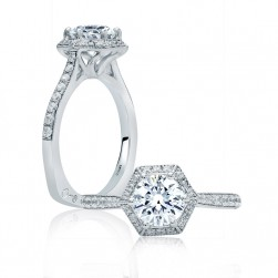 A.JAFFE Platinum Signature Engagement Ring MES827