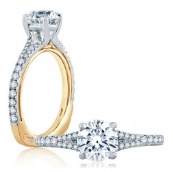 A.JAFFE Platinum Signature Engagement Ring MES854