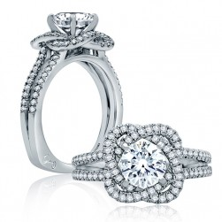 A.JAFFE Platinum Signature Engagement Ring MES855