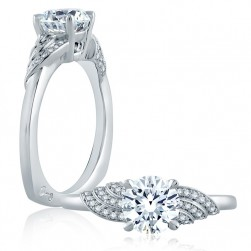 A.JAFFE Platinum Signature Engagement Ring MES856