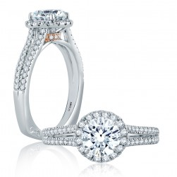 A.JAFFE Platinum Signature Engagement Ring MES872