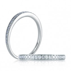 A Jaffe Classic Platinum Wedding Ring MR1563