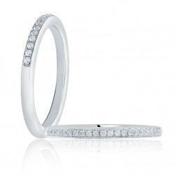 A.JAFFE Platinum Classic Diamond Wedding Ring MR1622