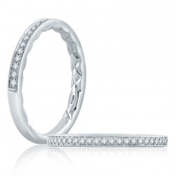 A.JAFFE Platinum Classic Diamond Wedding Ring MR2182Q