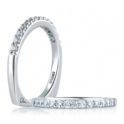A Jaffe Platinum Signature Diamond Wedding Ring MRS279