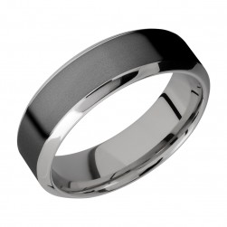 Lashbrook PF7HB14/ZIRCONIUM Titanium Wedding Ring or Band