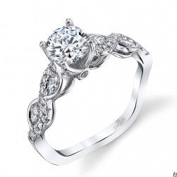 Parade Hemera Bridal 14 Karat Diamond Engagement Ring R3855B