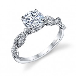 Parade Hemera Bridal R3059 14 Karat Diamond Engagement Ring