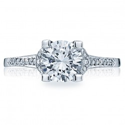 2604RD75 Platinum Simply Tacori Engagement Ring