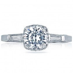 2626RD6 Platinum Tacori Dantela Engagement Ring