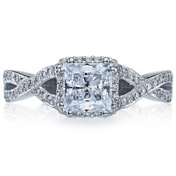 2627PRMD Platinum Tacori Dantela Engagement Ring
