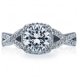 2627RDMD Platinum Tacori Dantela Engagement Ring