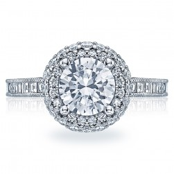 HT2517RD75 Tacori Crescent Platinum Engagement Ring