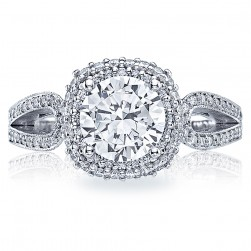 HT2518CU75 Tacori Crescent Platinum Engagement Ring