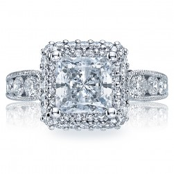 HT2521PR7 Tacori Crescent 18 Karat Engagement Ring