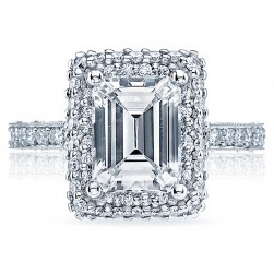HT2522EC85X65 Tacori Crescent Platinum Engagement Ring
