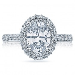 HT2522OV8X6 Tacori Crescent 18 Karat Engagement Ring