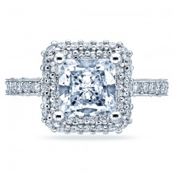 HT2522PR75 Tacori Crescent 18 Karat Engagement Ring